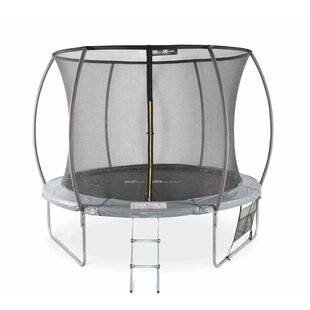 Anneliese 14' Backyard Above Ground Trampoline With Safety Enclosure By Freeport Park