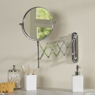 Darby Home Co Aloysia Accordion Round X Magnify Mirror