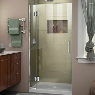 DreamLine Unidoor-X 36 in. W x 72 in. H Frameless Hinged Shower Door