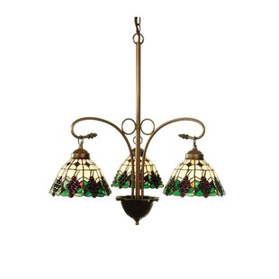 Meyda Tiffany Tiffany Fruit Grape 3-Light Shaded Chandelier
