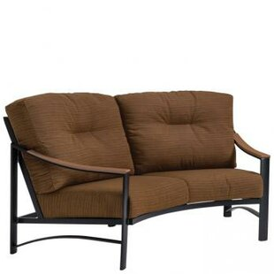 Brazo Crescent Loveseat with Cushions by Tropitone