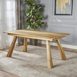 Meixell Wood Dining Table by Union Rustic