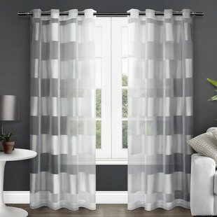 Britain Striped Sheer Grommet Curtain Panels (Set of 2) by Willa Arlo Interiors