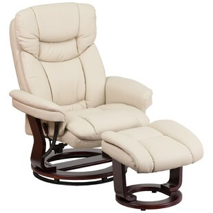 Eudy Manual Swivel Recliner with Ottoman