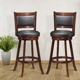 Aristides Swivel 24'' Counter Stool (Set of 2) by Red Barrel Studio®