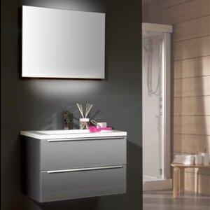 Belfry Bathroom 80 cm Wandmontierter Wandtisch Magic Action mit Spiegel und Aufbewahrungsschrank