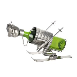 Down Slope Skier Metal Funny Kitchen Hold..