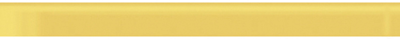"Lucente 9"" x 1"" Glass Bullnose Tile Trim in Sunflower"