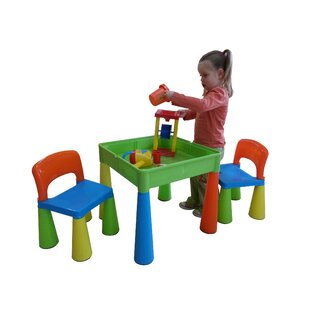 Versatile Children's 3 Piece Play Table And Chair Set By Just Kids