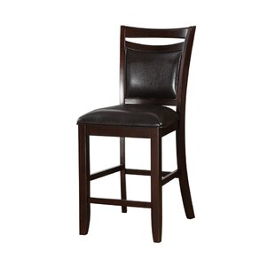 Holmgren Classic Wooden Armless 24 Bar Stool (Set of 2) Charlton Home