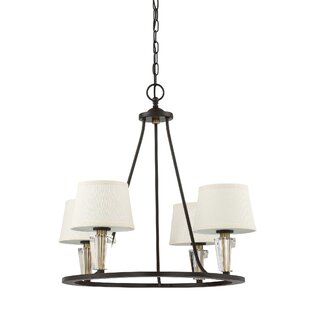 Brayden Studio Vivanco 4-Light Shaded Chandelier