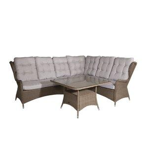 Review Bhavin 5 Seater Rattan Corner Sofa Set