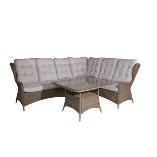 Discount Bhavin 5 Seater Rattan Corner Sofa Set