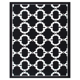 Hand-Woven Black/White Outdoor Area Rug By The Conestoga Trading Co.