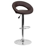 Betsey Swivel Adjustable Height Bar Stool by Orren Ellis