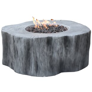 Manchester Concrete Gas Fire Pit Table By Elementi
