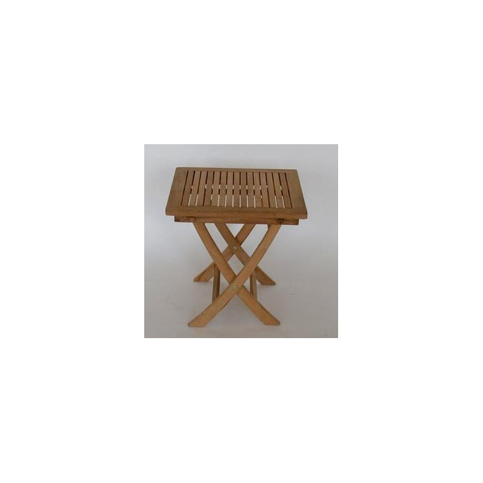 Folding Teak Side Table.Folding Teak Side Table