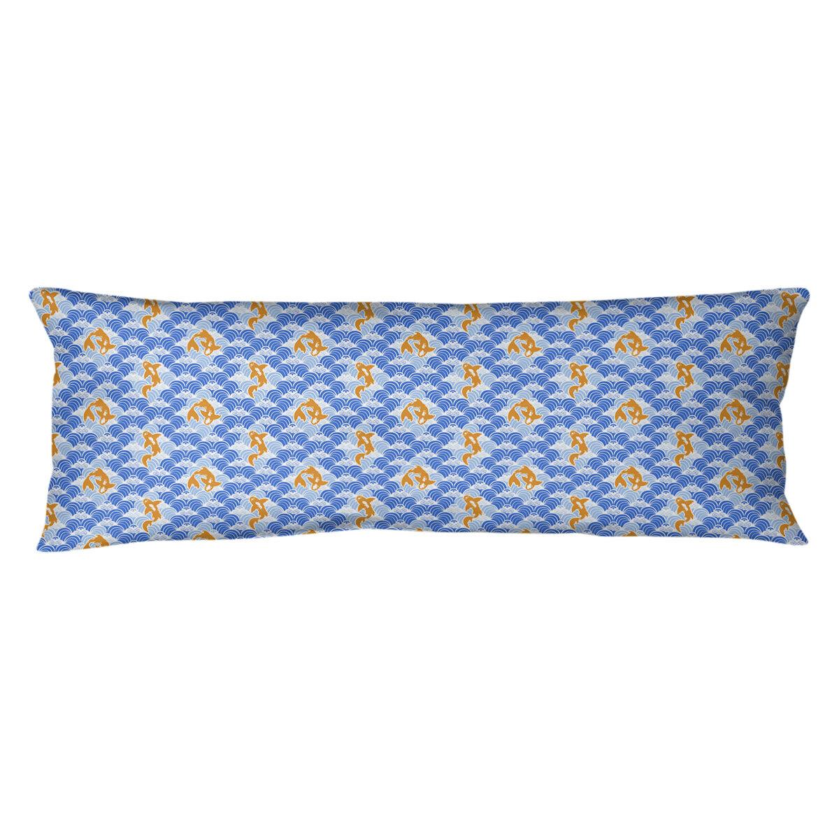 East Urban Home Koi Fish Waves Lumbar Pillow Wayfair