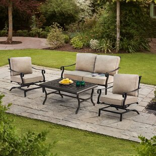 Tarrance 4 Piece Sofa Seating Group with Cushions