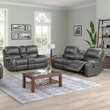 Stampley 2 Piece Faux Leather Reclining Living Room Set by Millwood Pines