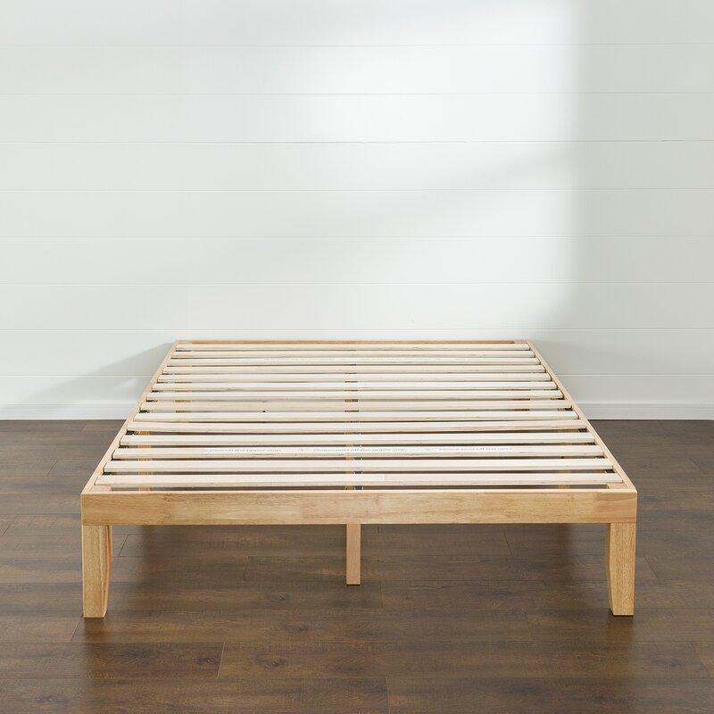 Gentil Bobek Wood Platform Bed Frame