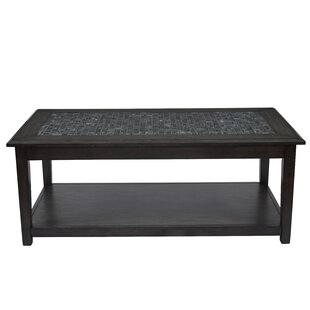 Wivenhoe Marble Tile Inlay Coffee Table with Storage