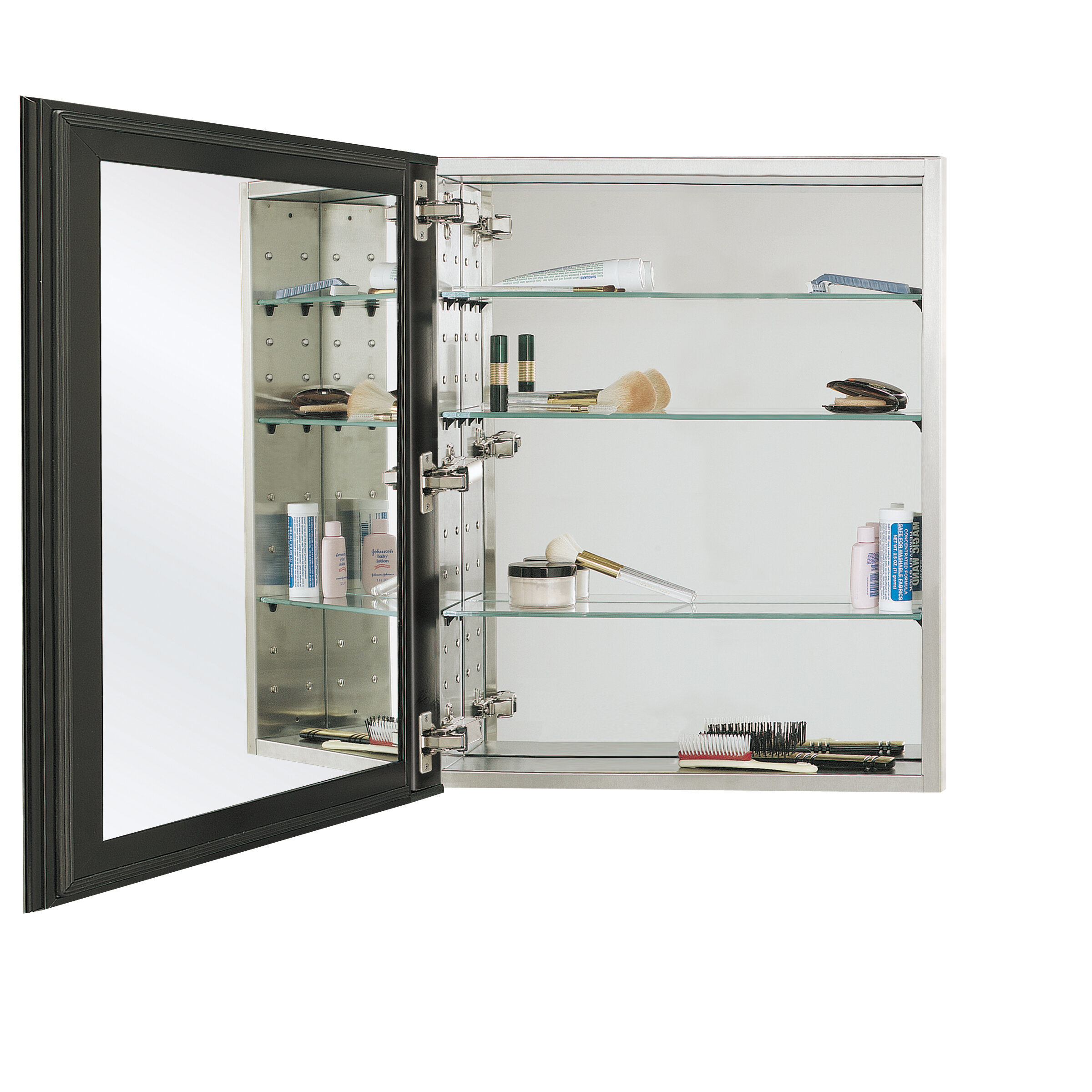 "Reflections Oversize Series 4"" x 4"" Recessed Medicine Cabinet"