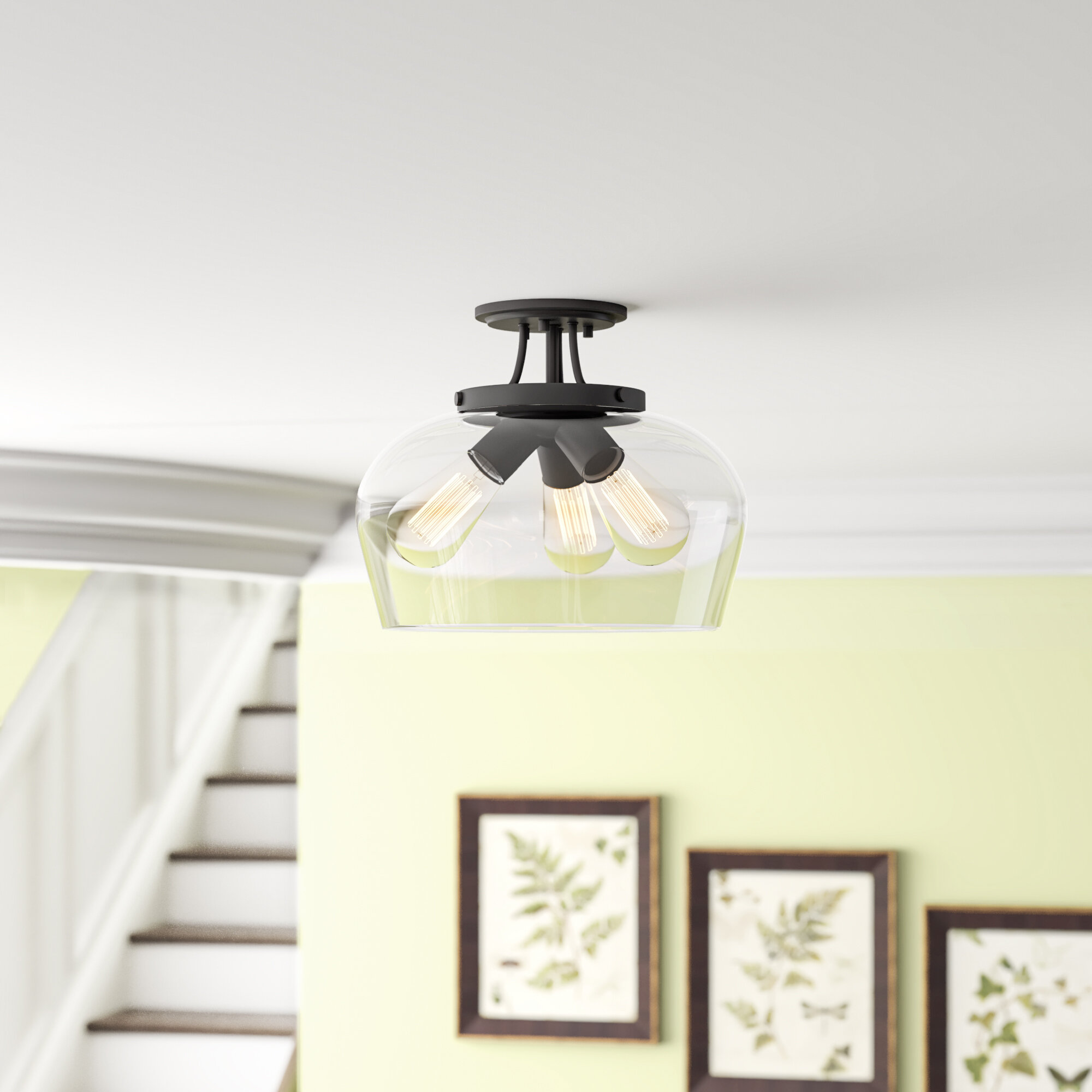 Patson 3 Light Semi Flush Mount