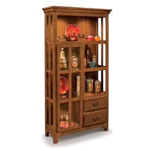 Shelia Lighted Curio Cabinet