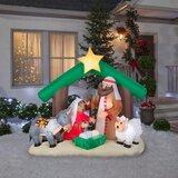 Holy Family Nativity Scene Lighted Display