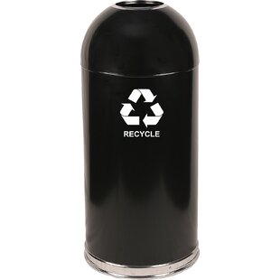 Dome Top 15 Gallon Recycling Bin