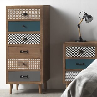 Wooden 6 Drawer Chest Of Drawers By Hazelwood Home