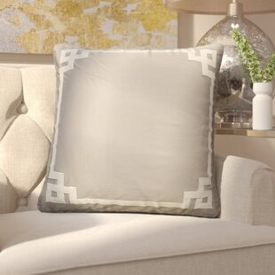 Darvell Border Pattern Square Throw Pillow