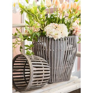 Bamboo 2 Piece Basket Set by Gracie Oaks