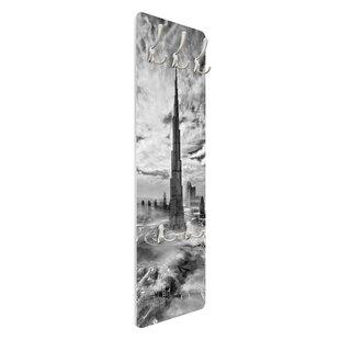 Dubai Super Skyline Wall Mounted Coat Rack By Symple Stuff