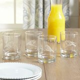 Coralie Finches Etched Whiskey Glass (Set of 4)