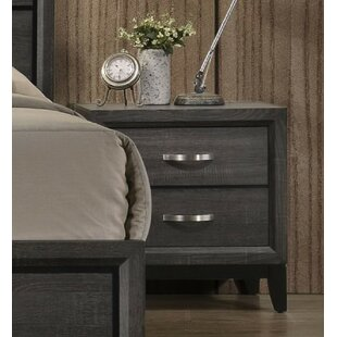 Caudillo 2 Drawer Nightstand by Gracie Oaks