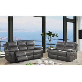 Find a Heitman Reclining Contemporary Leather Manual Wall Hugger Configurable Living Room Set by Red Barrel Studio Reviews (2019) & Buyer's Guide
