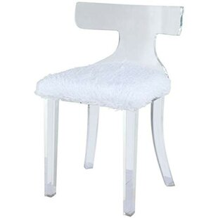 Kizzie Acrylic Mid Backrest Side Chair by Everly Quinn