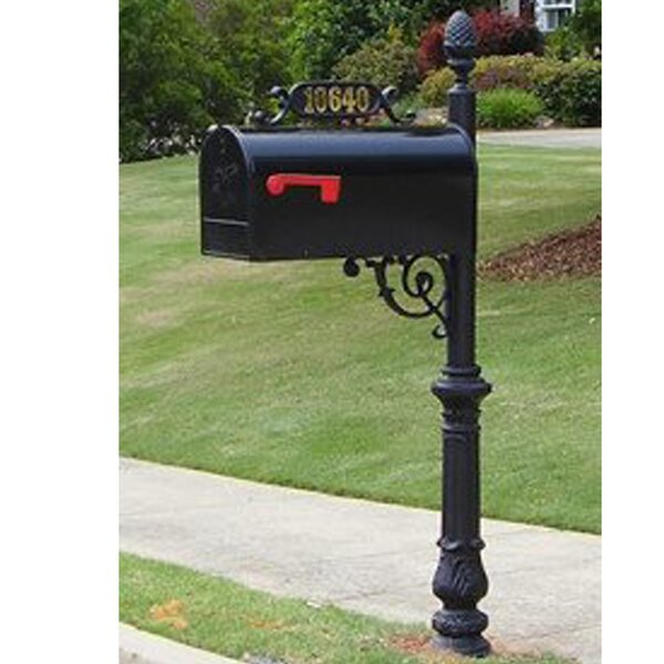 Addresses Of Distinction Charleston Post Mounted Mailbox Reviews Wayfair
