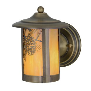 Meyda Tiffany Greenbriar Oak 1-Light Outdoor Wall lantern