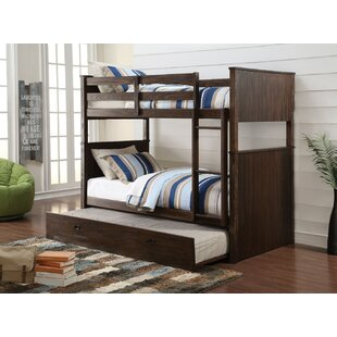 Ansonville Wooden Twin over Twin Bunk Bed