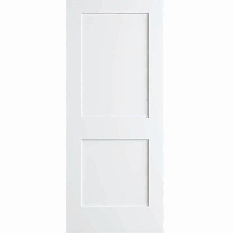 Kiby Shaker 2 Panel Wood Slab Interior Door Reviews Wayfair