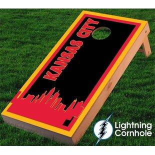 Lightning Cornhole Kansas City Skyline Cornhole Board