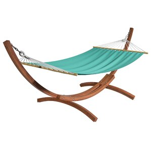 Grissom Free Standing Cotton Patio Hammock With Stand