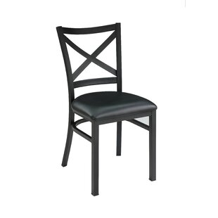 Restaurant Genuine Leather Upholstered Dining Chair (Set of 2) New Spec Inc