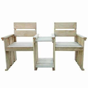 Yancy Wooden Love Seat (Set Of 2) By Sol 72 Outdoor