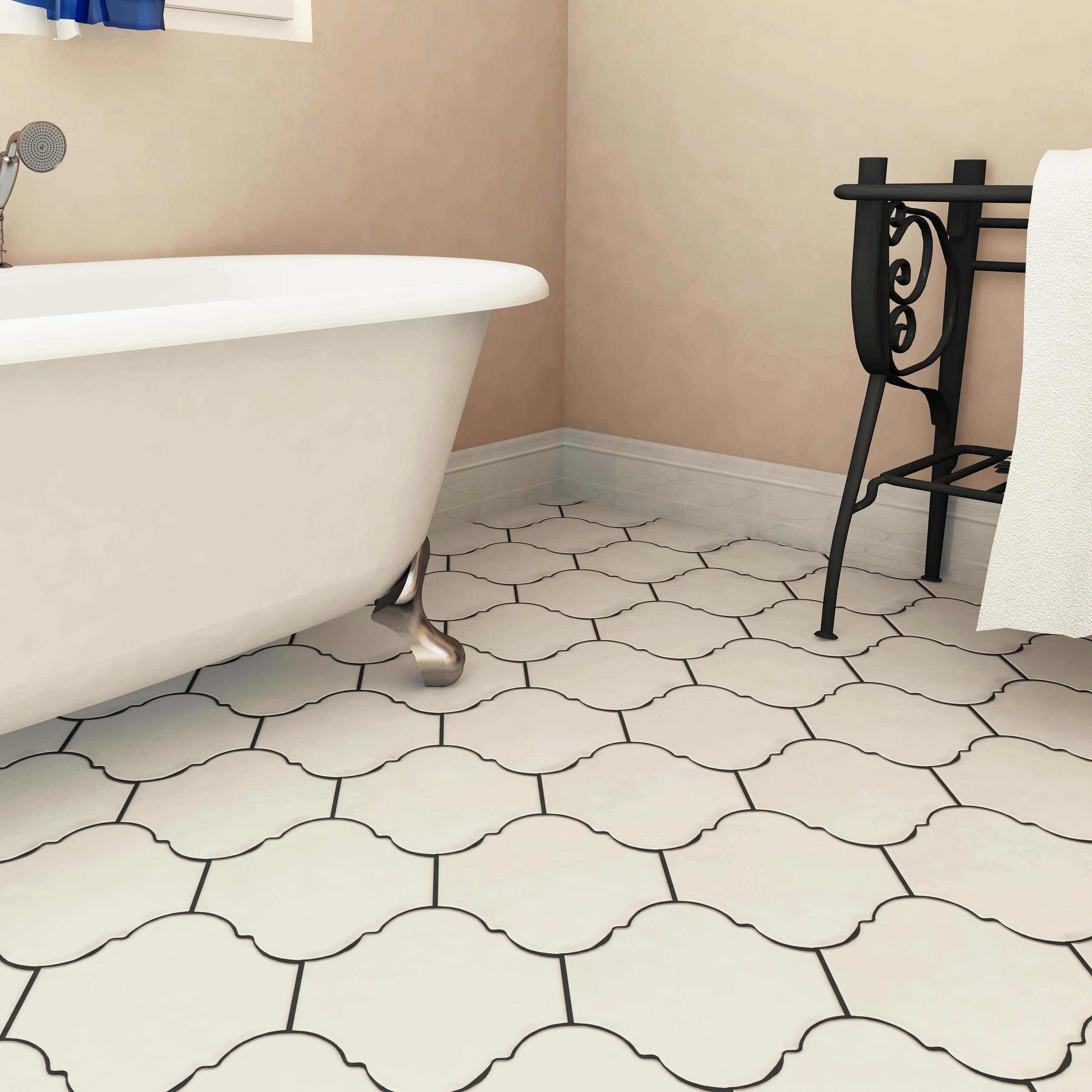 "Marr 7"" x 7"" Porcelain Wall & Floor Tile"