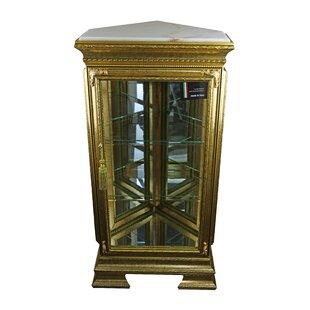 Astoria Grand Stlouis Pentagonal Lighted Corner Curio Cabinet