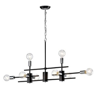 Brixham Exposed Bulb Linear 8-Light Novelty Chandelier by Wrought Studio